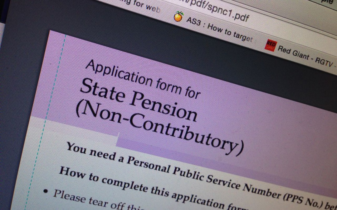 State Pension on social welfare site
